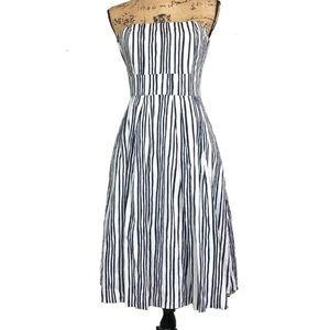 Striped strapless club Monaco dress